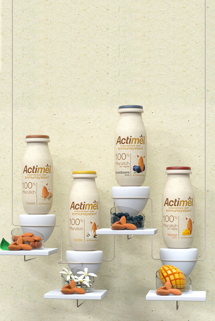 Actimel 100% Pflanzlich Mobile Background